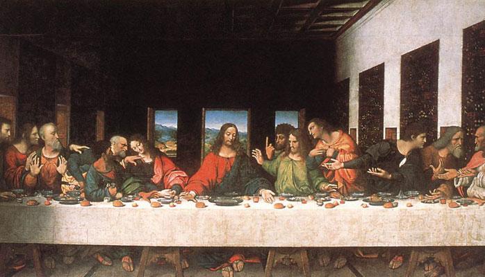 La Ultima Cena Leonardo da Vinci krouillong comunion en la mano sacrilegio