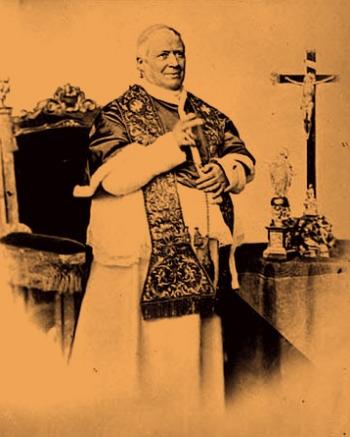Papa Pio IX krouillong comunion en la mano es sacrilegio