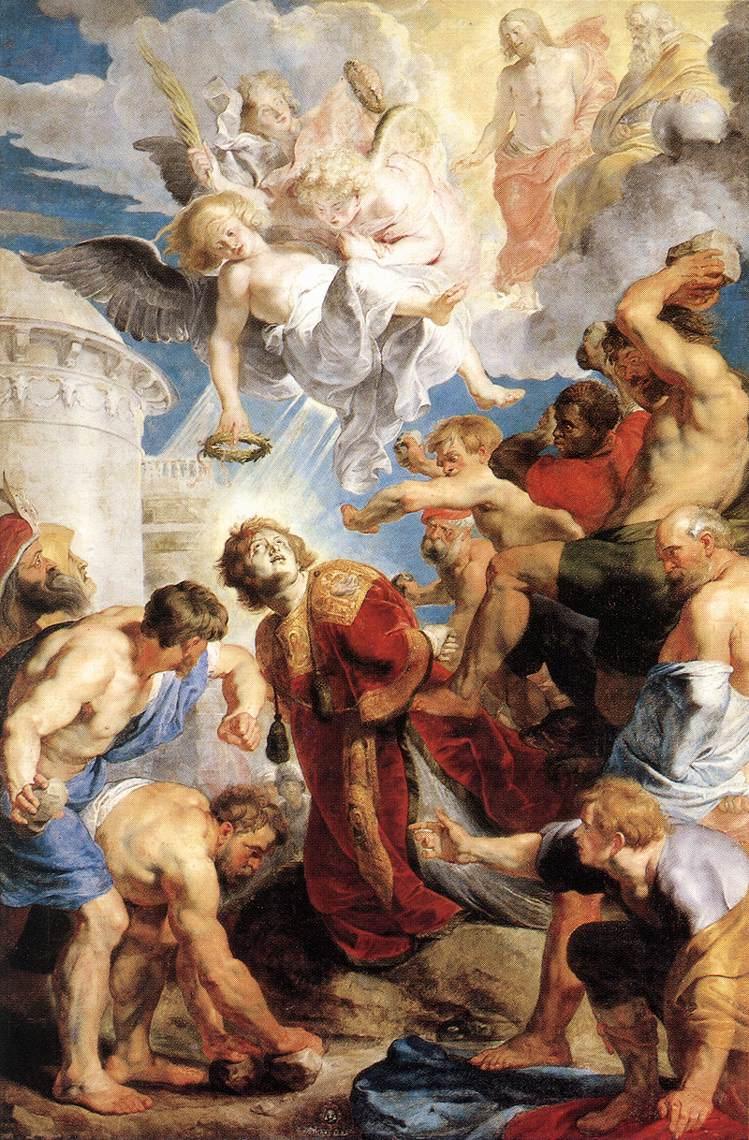 San Esteban Martirio Pieter Pauwel Rubens krouillong comunion en la mano sacrilegio