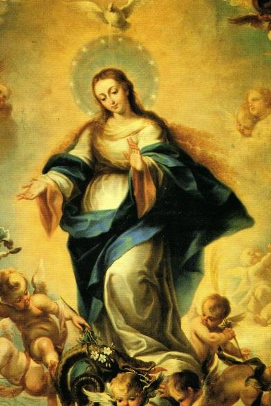 Santa Maria Reina krouillong comunion en la mano sacrilegio