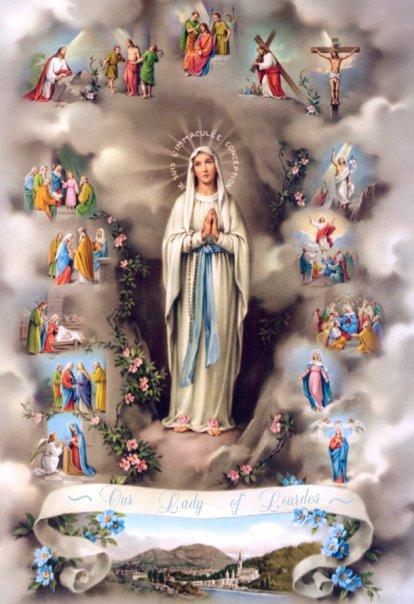 Los Misterios del Santo Rosario Lourdes krouillong comunion en la mano es sacrilegio