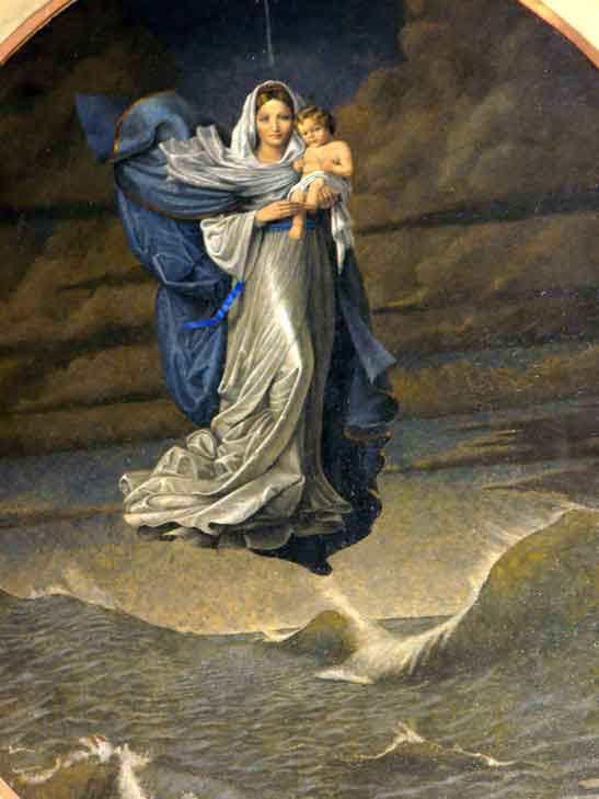 virgen maria stella maris krouillong comunion en la mano