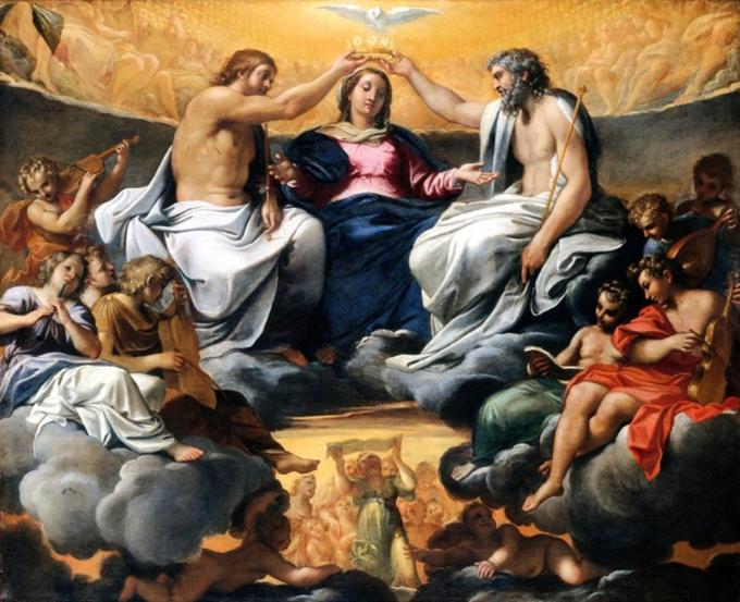Coronacion de la Virgen Maria krouillong comunion en la mano es sacrilegio