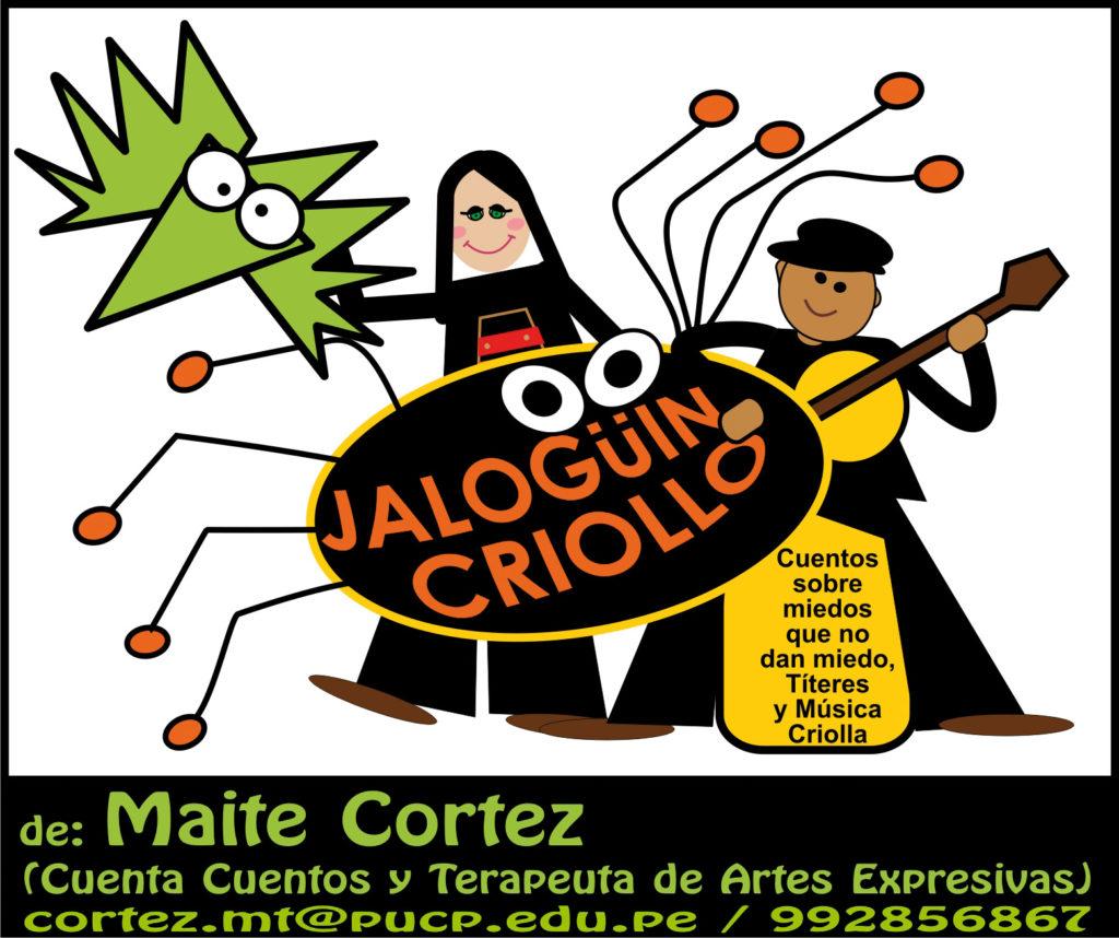 JALOGUIN CRIOLLO de MAITE CORTEZ CUENTA CUENTOS Y TERAPEUTA DE ARTES EXPRESIVAS 2016.