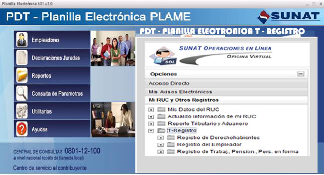 planilla electronica pdt 601