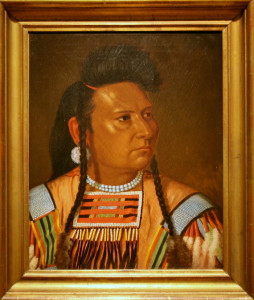 Chief Joseph painting by Cyrenius Hall at the National Portrait Gallery.