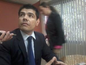 Adrián Jara, director general de la delegación del Parlasur./Marcos Cáceres, ABC Color