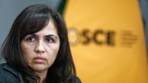 La abogada Magali Rojas Delgado, cercana a Ollanta Humala y Nadine Heredia, preside el OSCE. (Foto: Hugo Pérez/El Comercio)