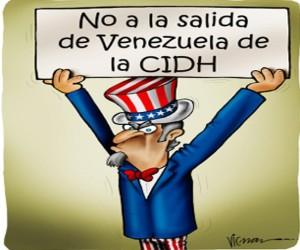 Graciosa caricatura que resume la situación de los EE.UU. respecto de su participación en la Corte IDH
