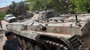 Un tanque ruso secuestrado por los rebeldes a las fuerzas de Al Assad.