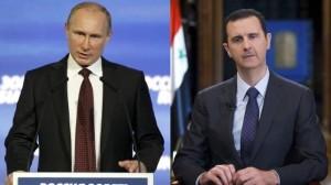 Vladimir Putin y su aliado Bashar al Asad. (Reuters).