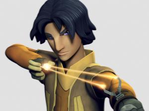 """Ezra Bidger, personaje principal de la serie """"Star Wars Rebels"""". El arma que le asignaron los realizadores es la más tonta jamás vista en el universo oficial y expandido de Star Wars."""