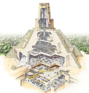 Templo massassi en Yavin 4, academia de la nueva orden Jedi.