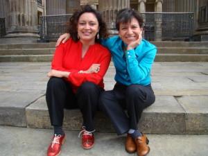 Ángélica Lozano (izqda) y Clara López (drcha), pareja y activistas a favor de los derechos de los gays. La primera es Congresista por Bogotá y la segunda, senadora. SALUD HERNÁNDEZ-MORA