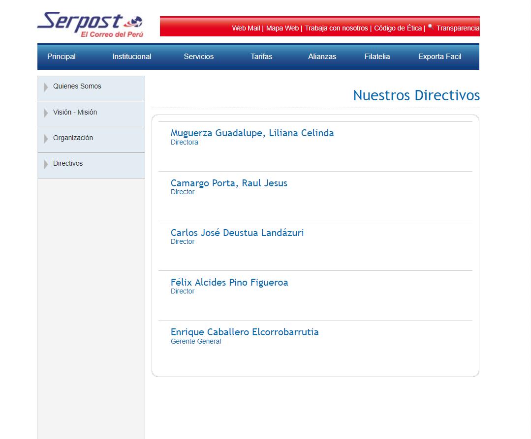 SERPOST Perú: El peor servicio postal debe ser declarado en ...