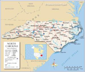 North Carolina - USA map. In: http://www.nationsonline.org/maps/USA/North_Carolina_map.jpg