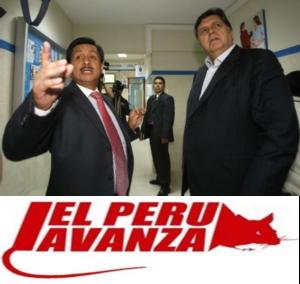 """Ex-presidente Alan García junto a Fernando Barrios, el ex ministro que al salir del puesto se indemnizó a si mismo por """"despido arbitrario"""" cuando los ministros son funcionarios públicos de libre designación y remoción. Pendejazo!"""