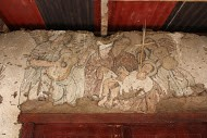 Imagen en la pared de la casa hacienda Viseca