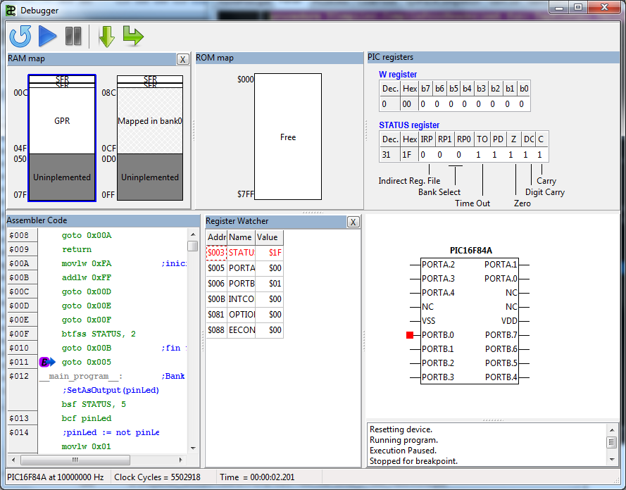 Pascal compiler for Microchip PICs