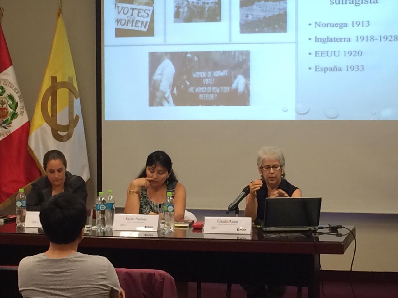 """Presentación del libro """"Somos ciudadanas. Ciudadanía y sufragio femenino en el Perú"""" [fotos y video]"""