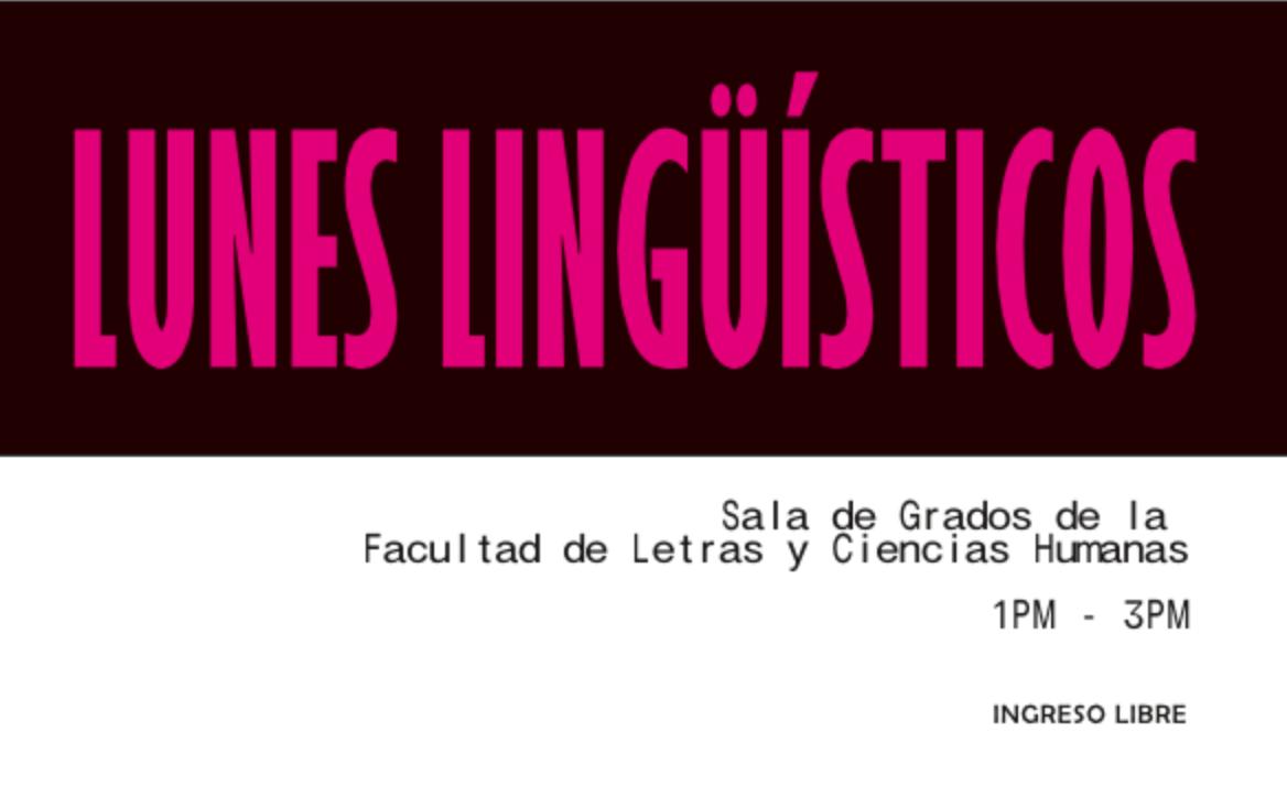 Lunes Lingüísticos: setiembre y octubre (2019)