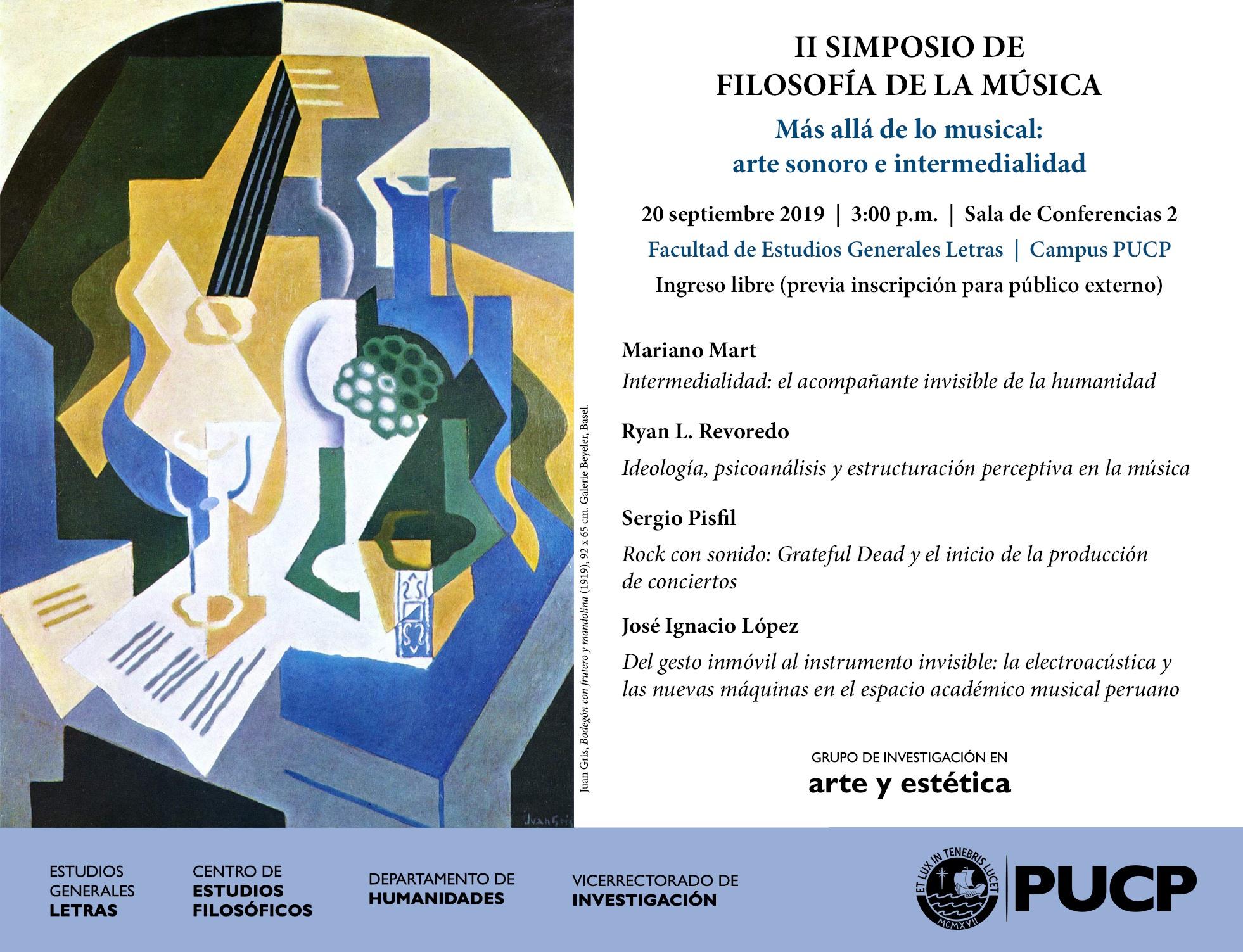 II Simposio de Filosofía de la Música: más allá de lo musical: arte sonoro e intermedialidad