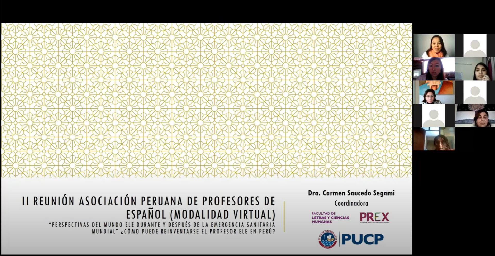 II Reunión de la Asociación Peruana de Profesores de Español (APPE) [video]