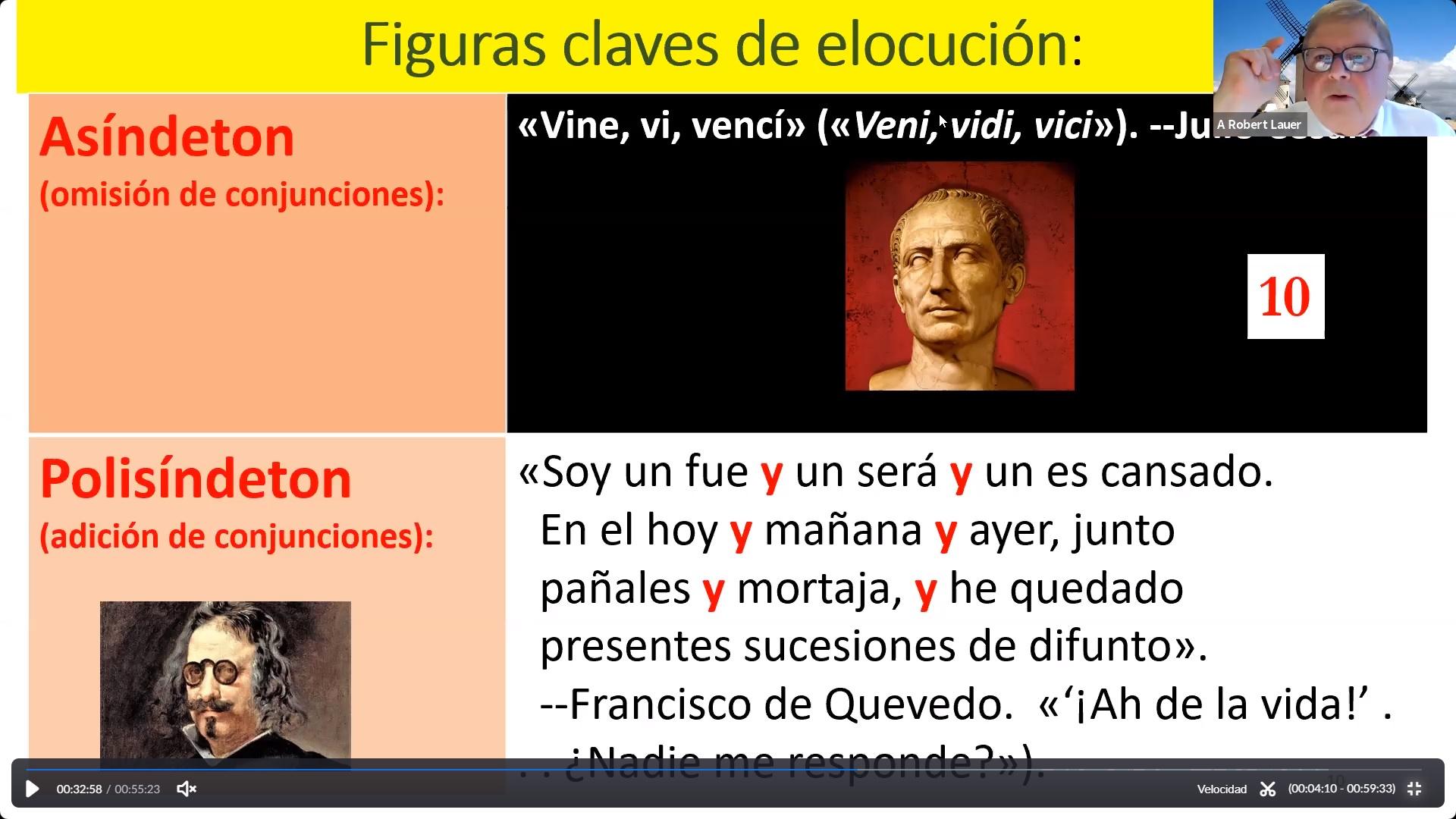 Curso Narrativa Española de la Edad de Oro: presentaciones de los profesores invitados A. Robert Lauer  y Fernando Rodríguez [fotos]
