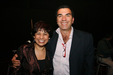 Rosa María Bedoya con Fernando Caballero