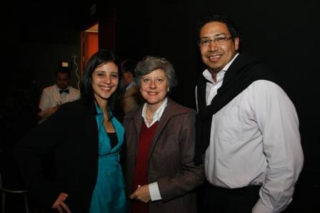 Rosario Peirano, Jeremy Phang Tan y una simpática invitada