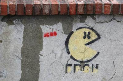 grafitti pacman