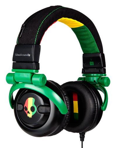 2011 G.I. RASTA Skullcandy headphones