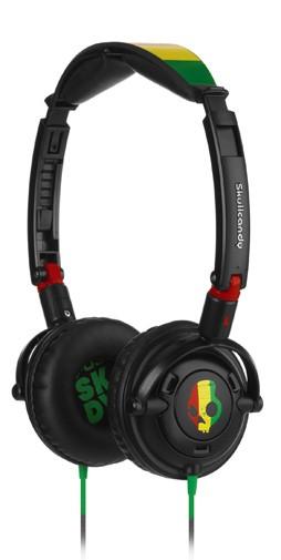 2011 LOWRIDER RASTA Skullcandy headphones