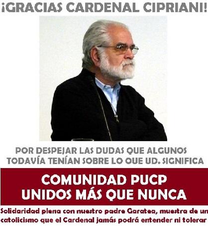 Comunidad PUCP en contra del veto al padre Gastón Garatea