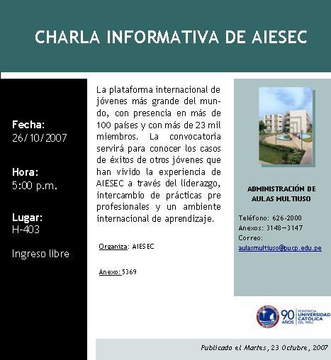 Charla informativa de AIESEC