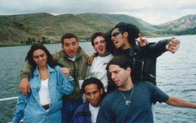 Grupo de rock Corbeta Blanca en Paca