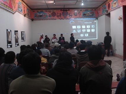 Conferencia de prensa de Xauxa Tiempo y Camino