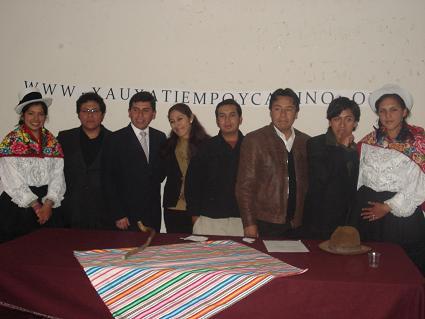 Miembros de la Asociación  Xauxa Tiempo y Camino