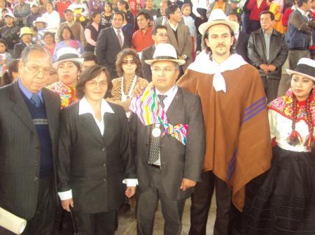 Billy Segura y delegación española en Jauja
