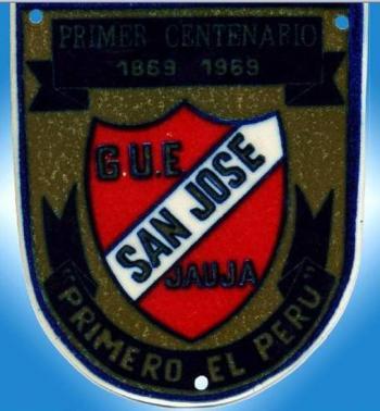 Insignia antigua del Colegio San Jose de Jauja (Foto: Gynko Alvarez