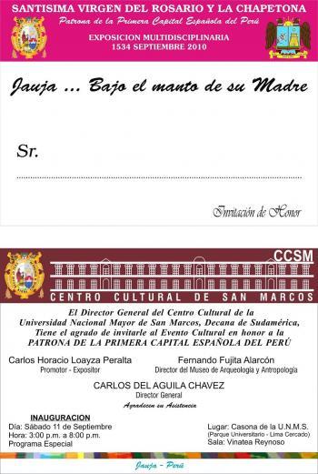 Invitacion a la Casona de San Marcos