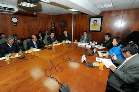 Reunión en el Congreso por el Aeropuerto de Jauja