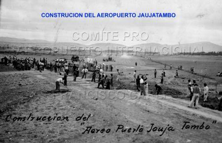 Construcción del aeropuerto de Jauja