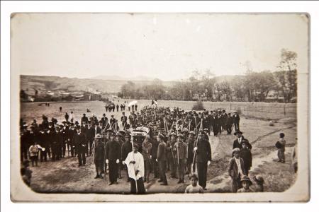 Foto del entierro del Director de San José