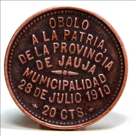 Sello de la moneda de 20 centavos