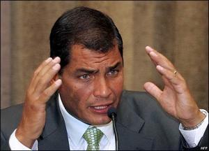 Presidente ecuatoriano Rafael Correa