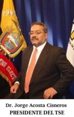 Jorge Acosta Cisneros, Presidente del Tribunal Supremo Electoral del Ecuador. Copyright: TSE del Ecuador