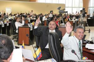 Un promedio de 104 votos recibieron los artículos sobre la Función Electoral aprobados en el Pleno. Fuente: Asamblea Constituyente del Ecuador