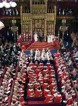 La noble y aristocrática Cámara de los Lores del Parlamento Británico