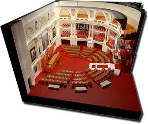 Esquema del hemiciclo de sesiones del parlamento peruano. Fuente: Congreso de la República del Perú